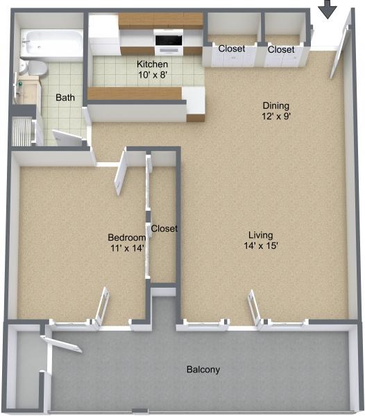 Princeton Court Apartments: Grayhaven Marina Village Apartments