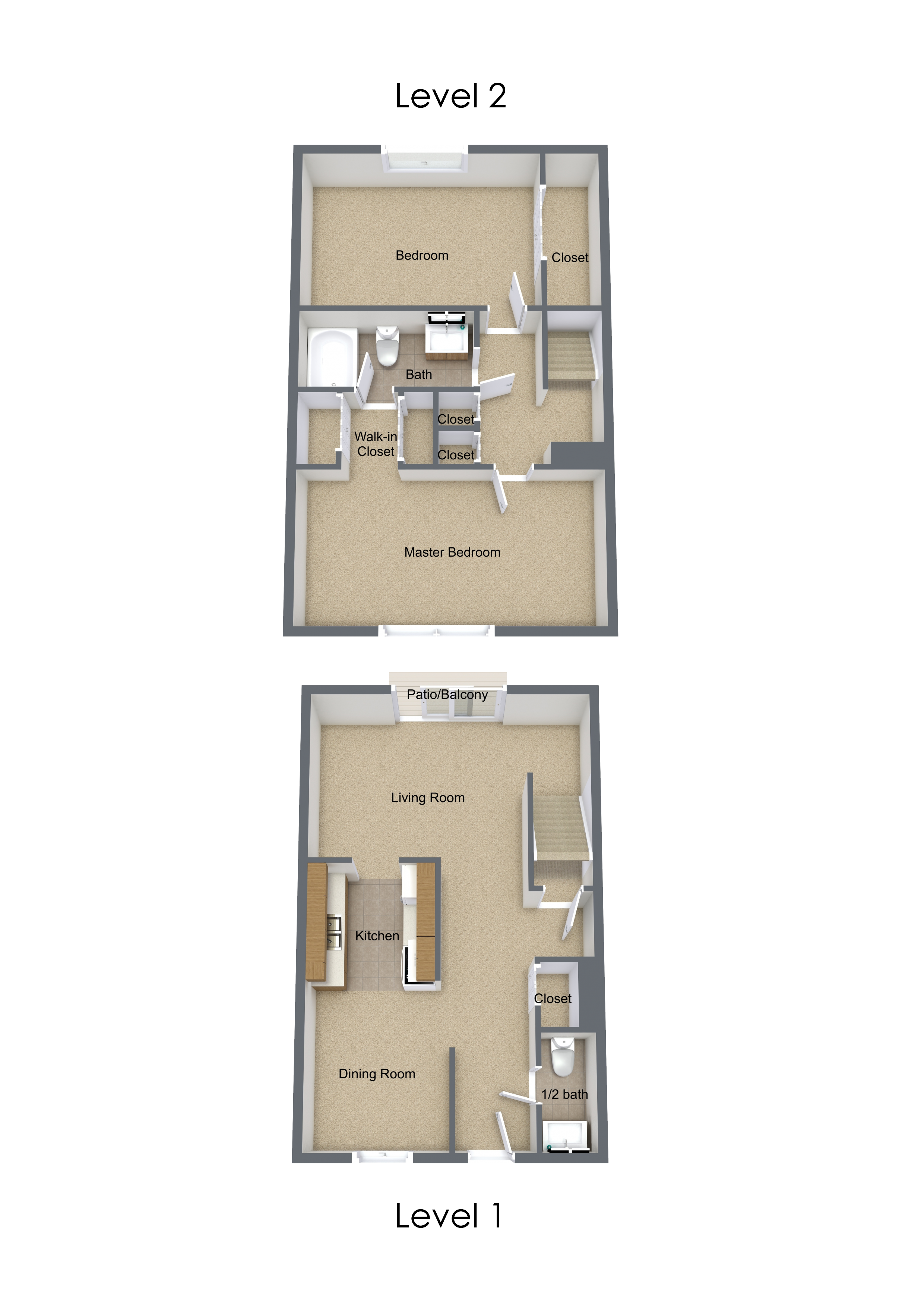 Two Bedroom Renovated Townhome