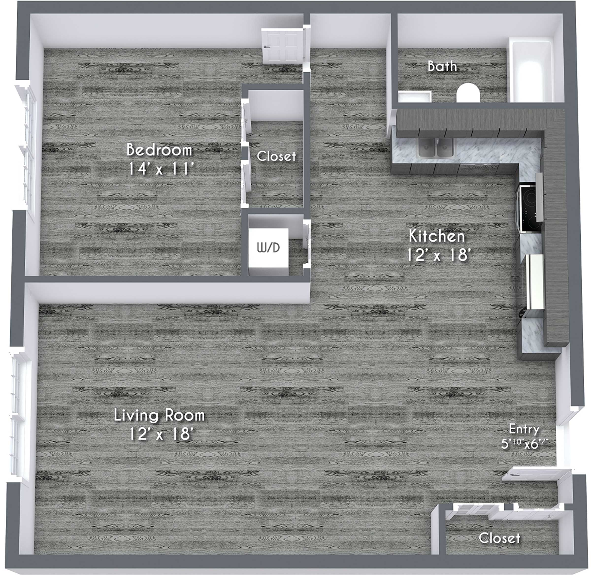 One Bedroom Hall Renovated