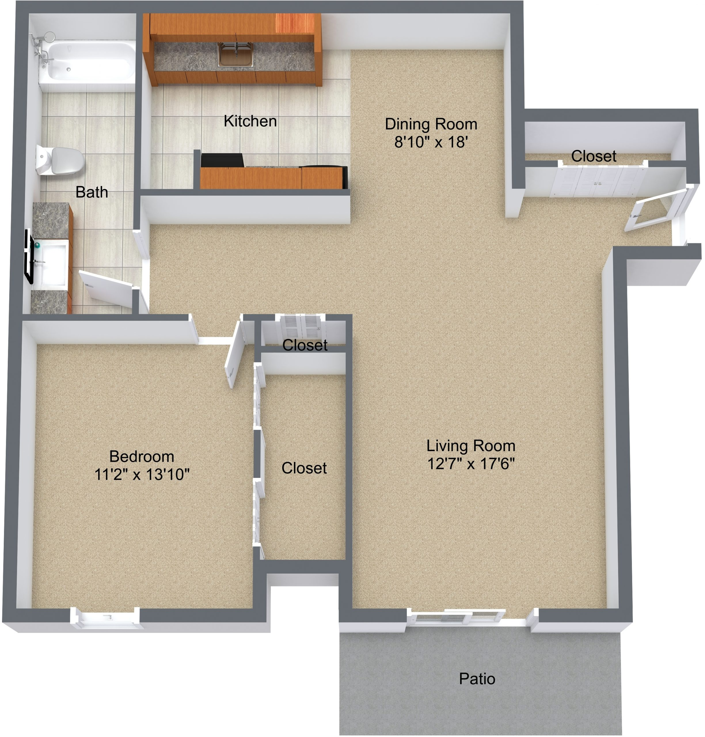 One Bedroom Renovated