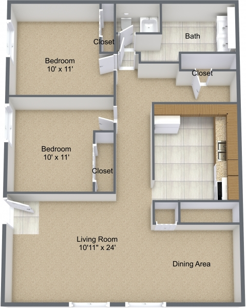 Two Bedroom Corner