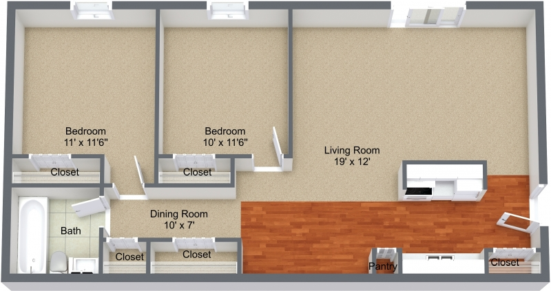 Two Bedroom Upper