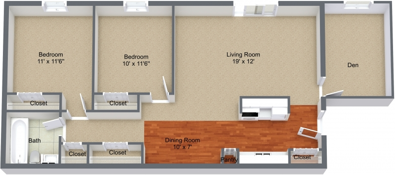 Two Bedroom Den