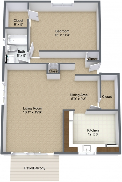 One Bedroom Mid