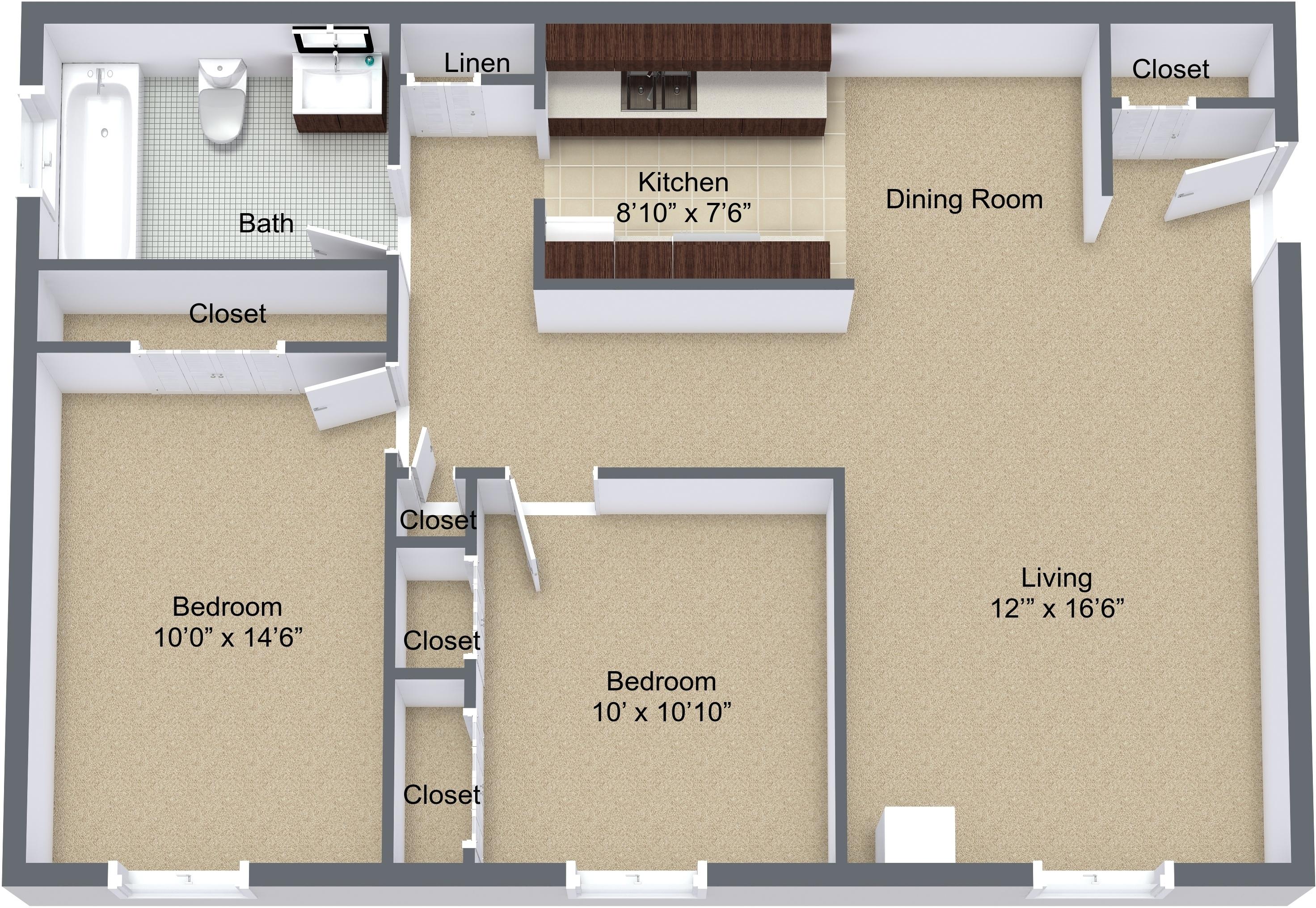 Two Bedroom Patio