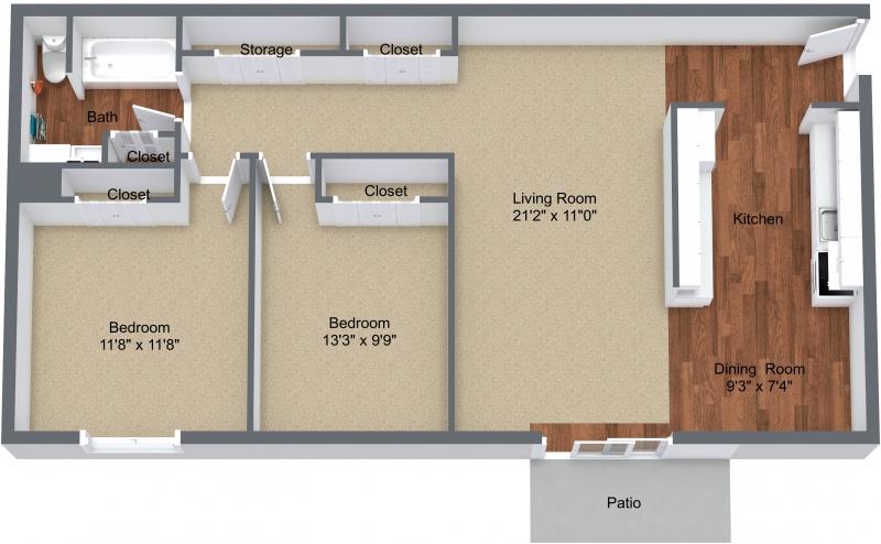 Two Bedroom Upper