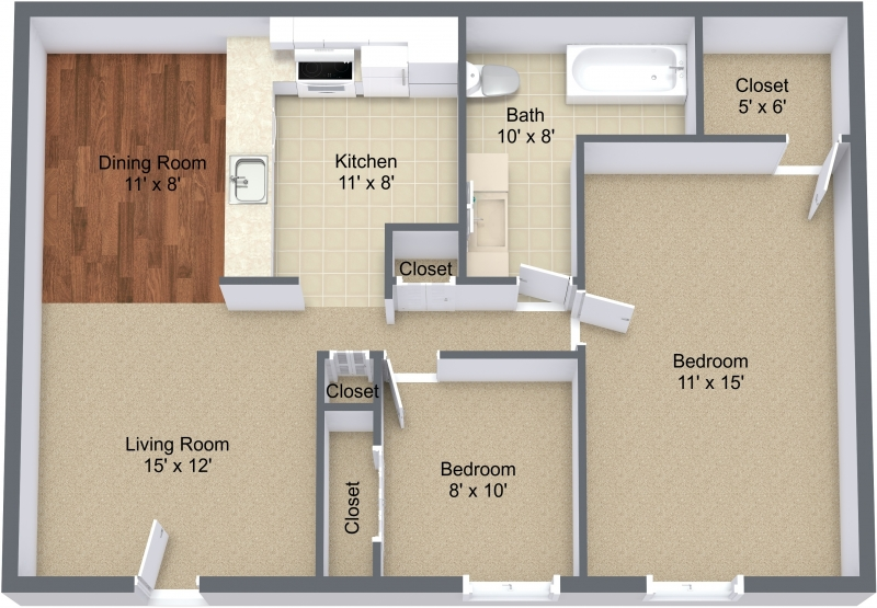 Two Bedroom Private Entry