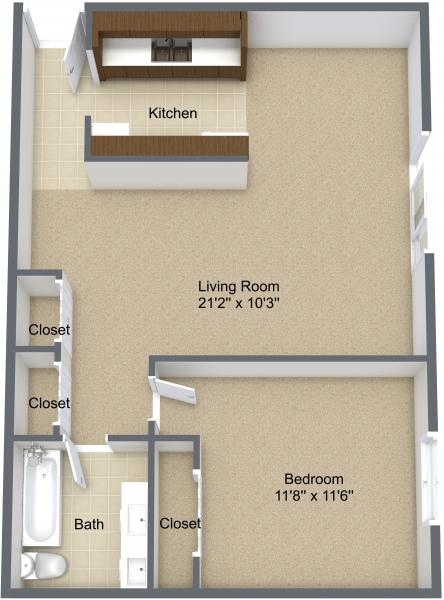 One Bedroom Lower