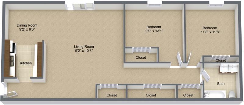 2 Bedroom Lower