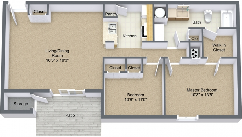Two Bedroom Large Lower