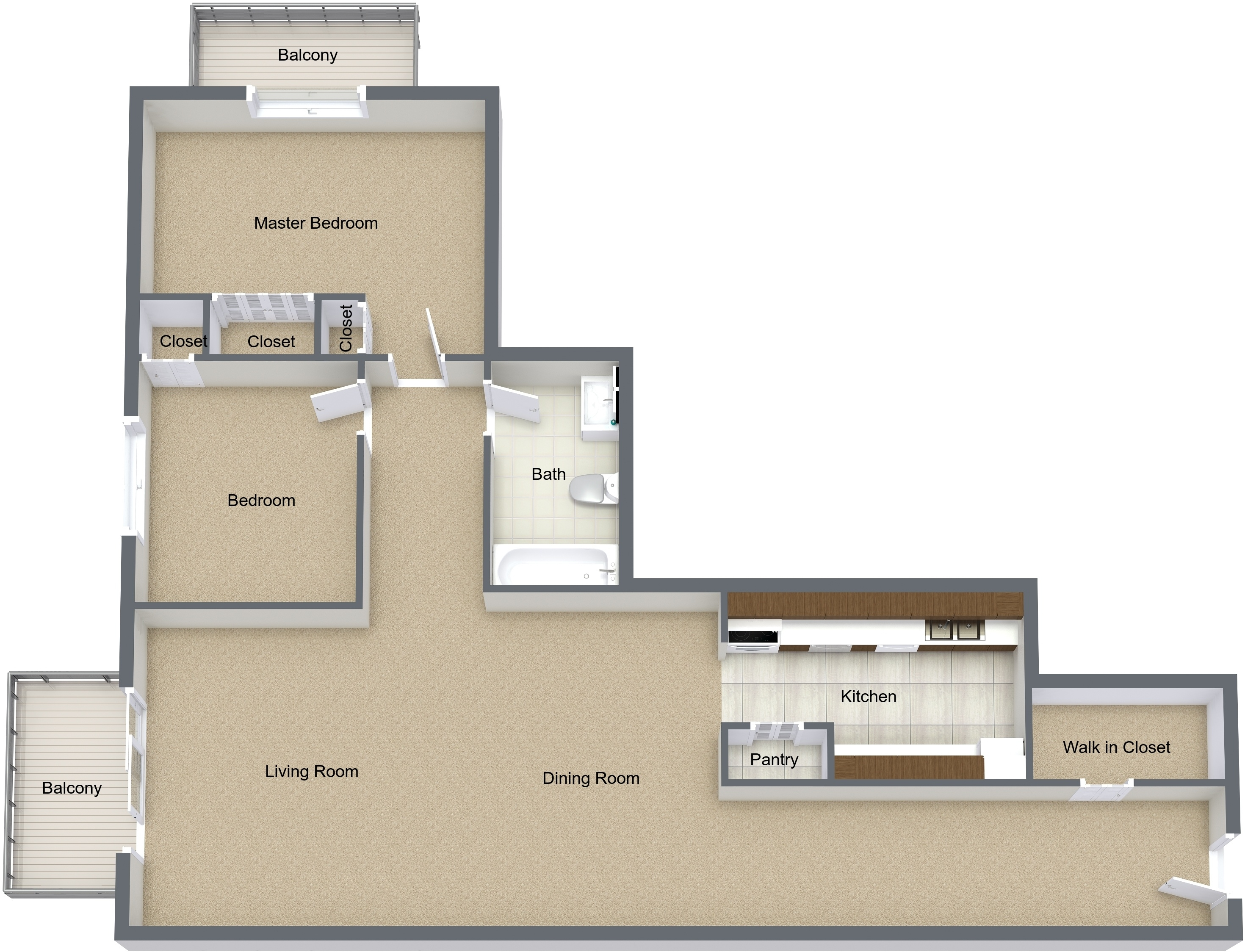 Two Bedroom Extra Large