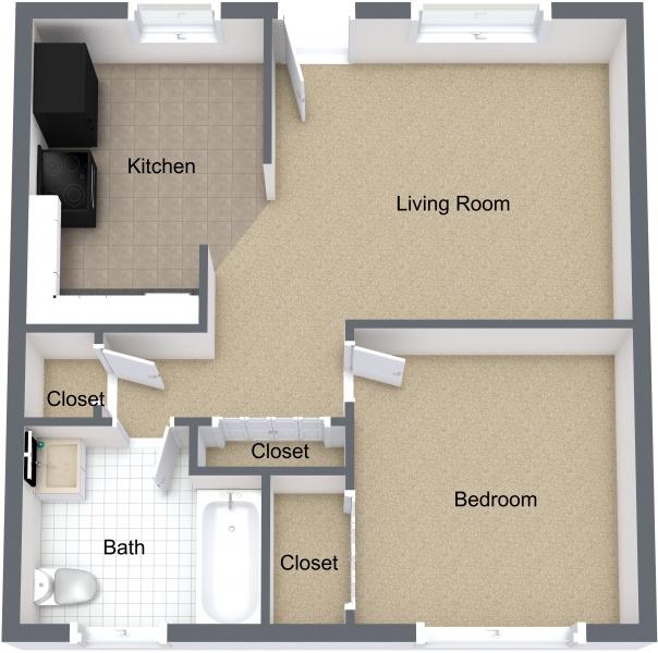 One Bedroom Partial Upgrade