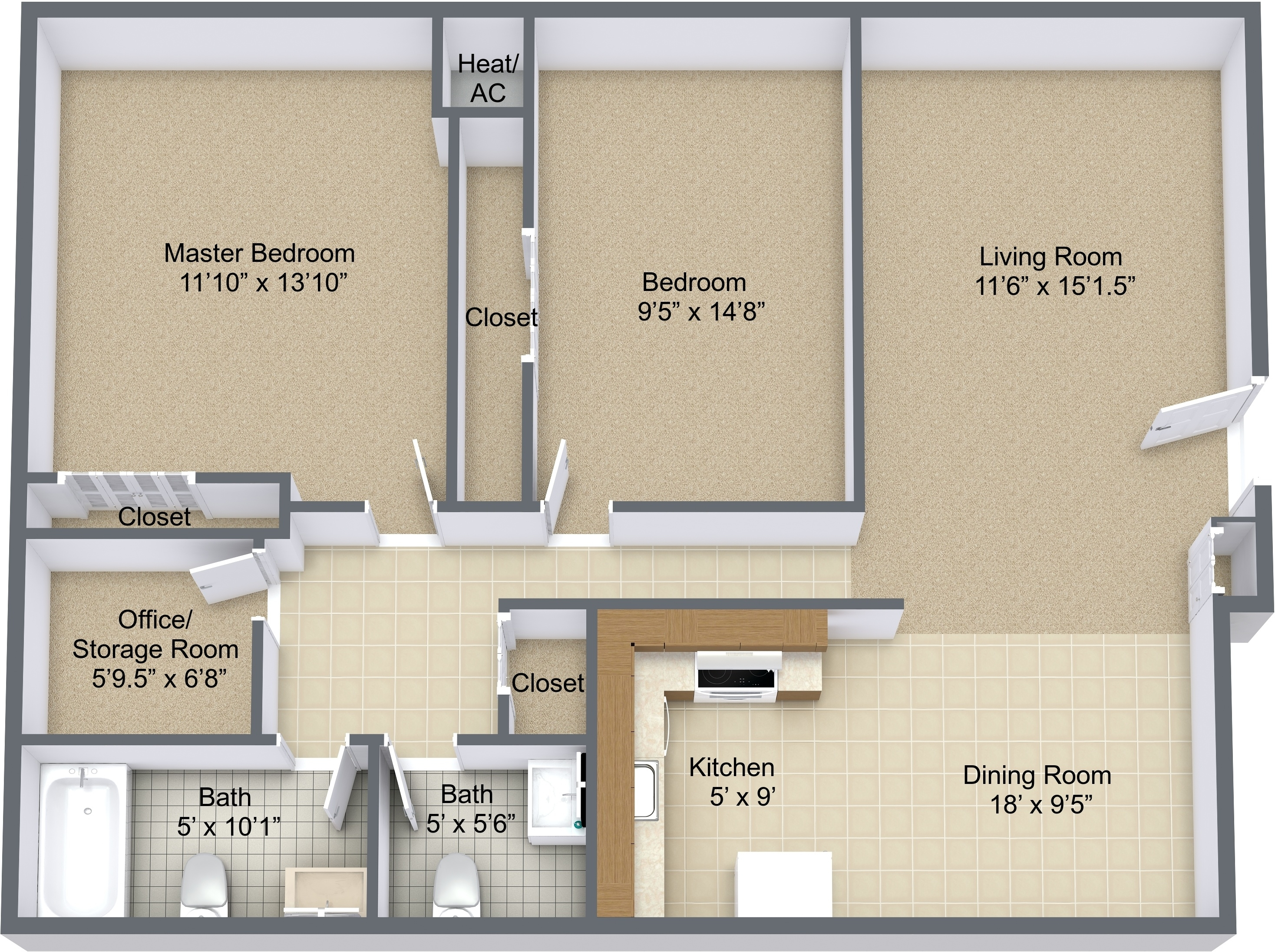 Two Bedroom Remodeled