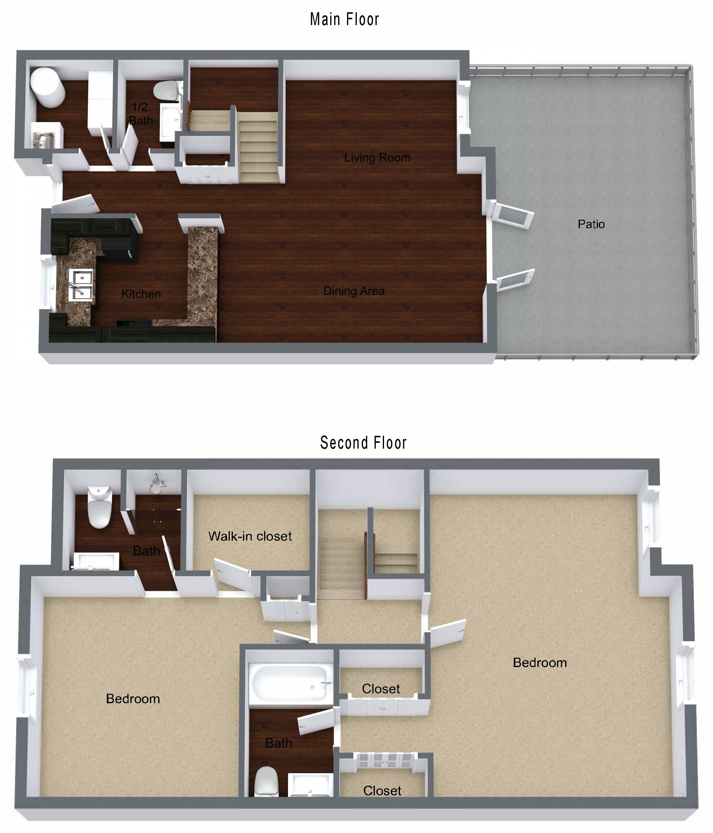 Two Bedroom Rooftop Apartment
