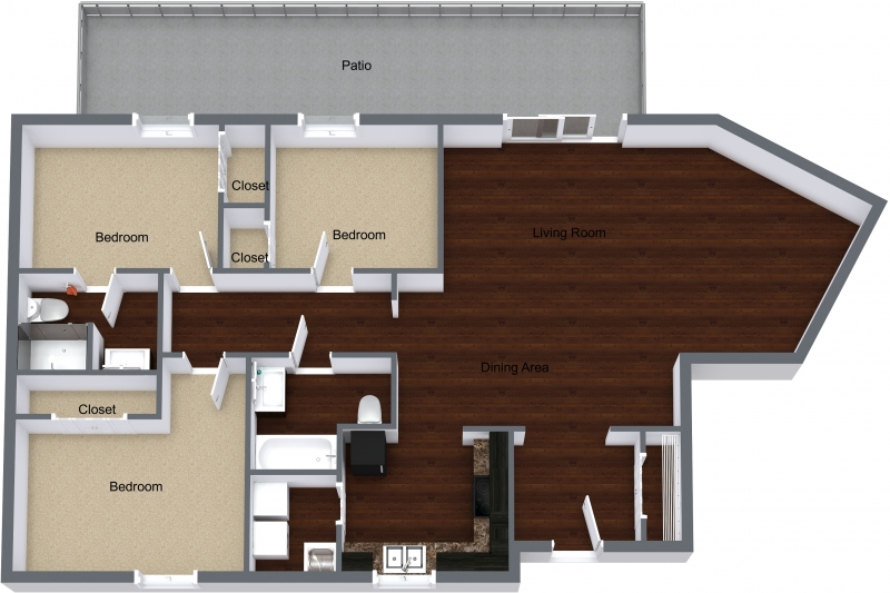 Three Bedroom Rooftop Apartment