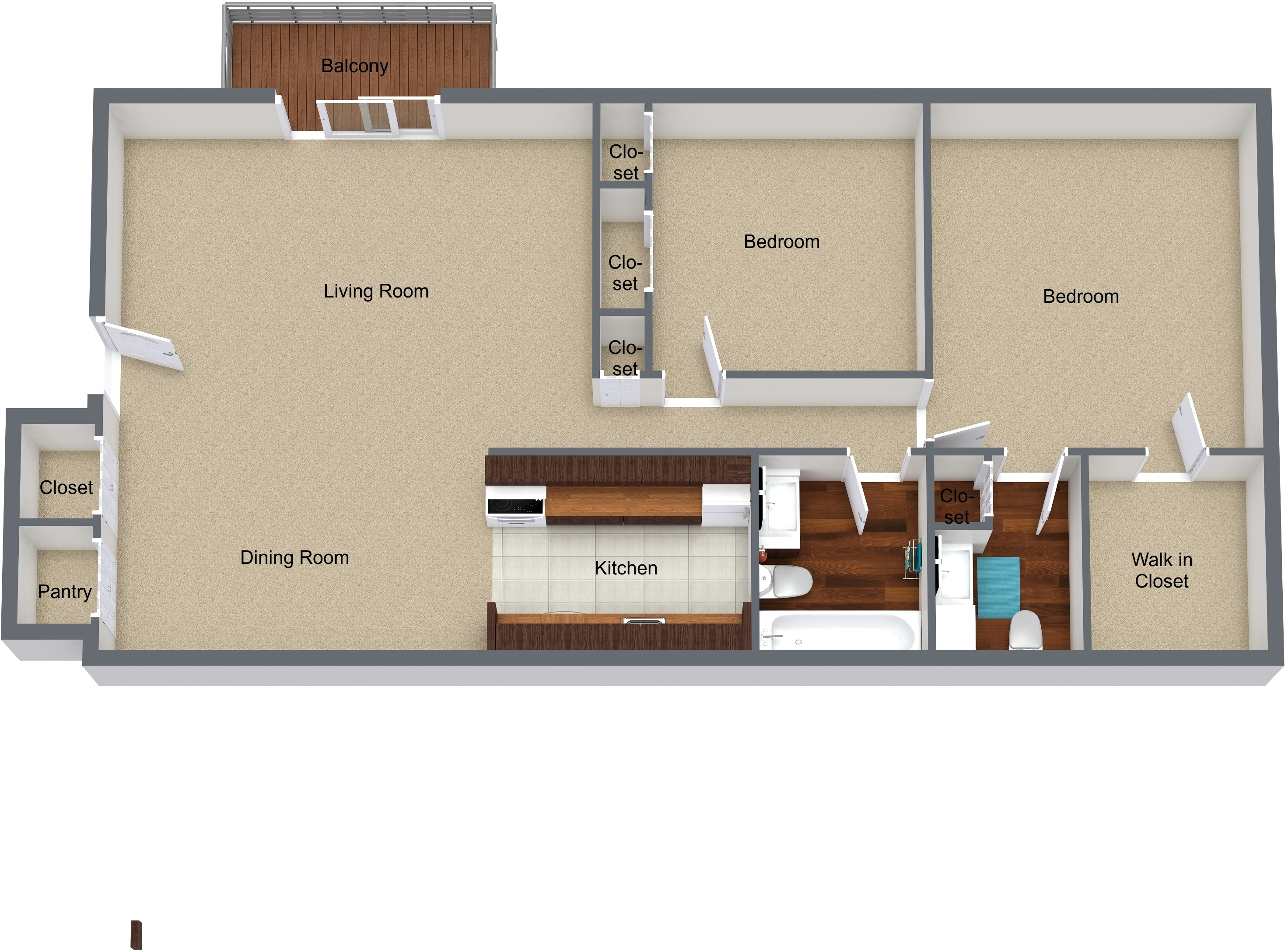 Two Bedrooms