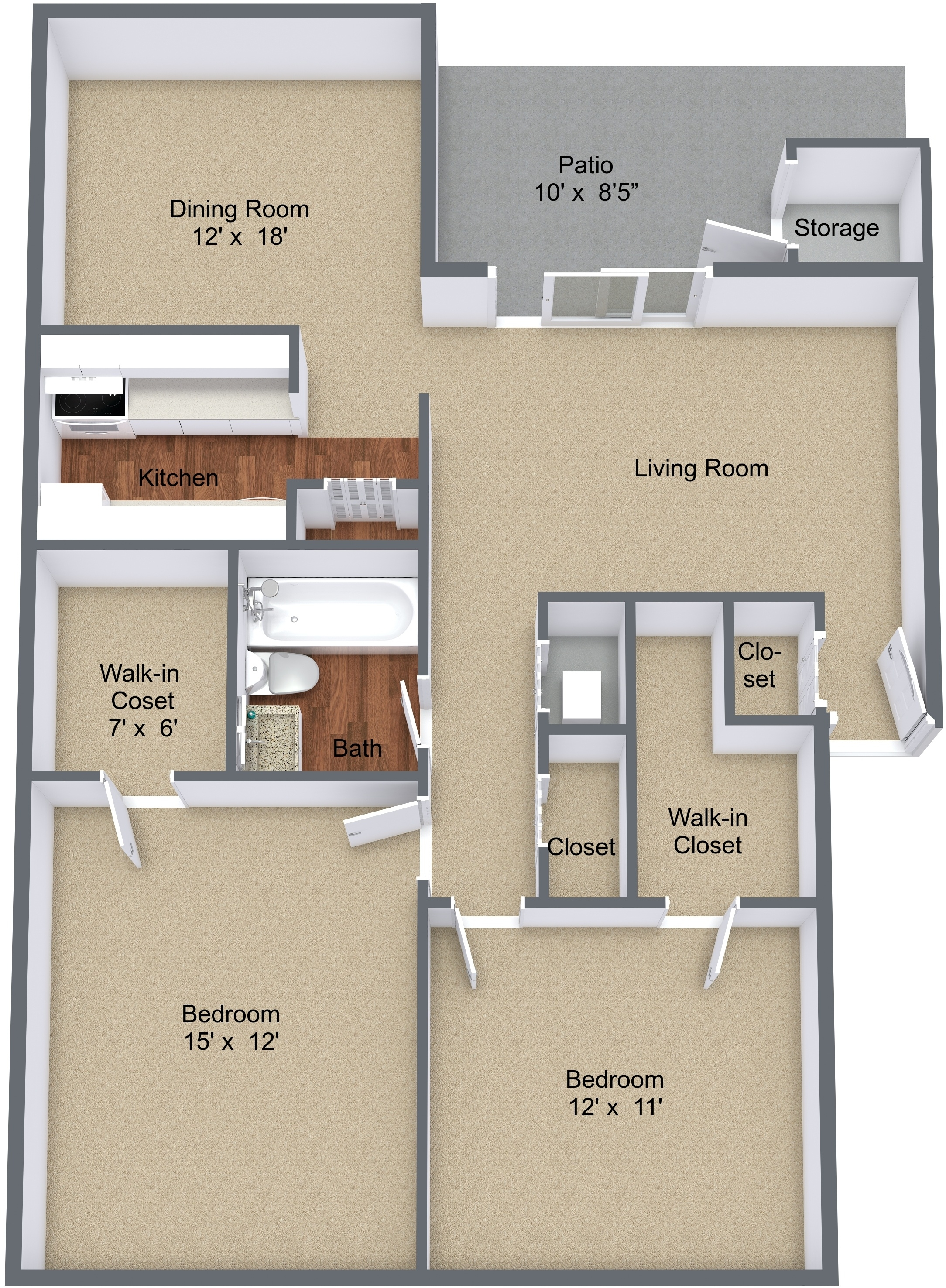 Two Bedroom Large